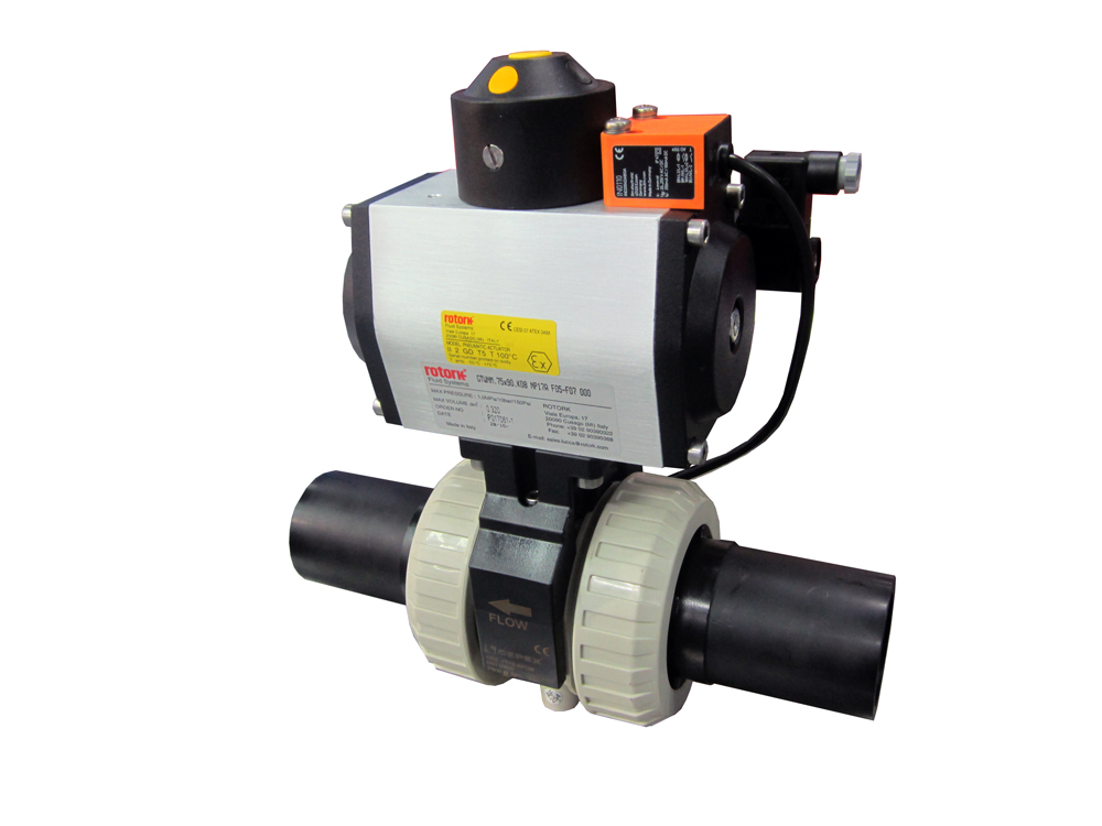 Cepex ball valve with inductive position transmitter