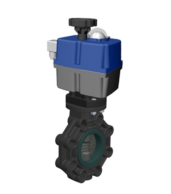 Butterfly valve PVC-U Electric actuator | Cepex Extreme