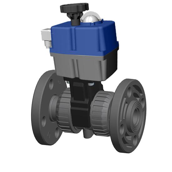 Ball valve PVC-U flanges Electric actuator | Cepex Extreme